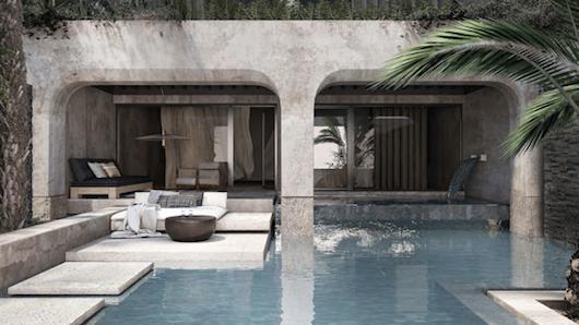 Minor Palace Crete waterfall suites